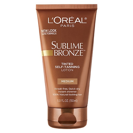 L'Oreal Paris Sublime Body Expertise Bronze Tinted Self-Tanning Lotion Medium Natural