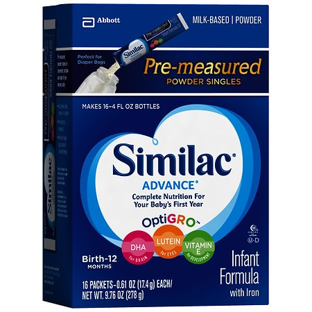 Similac Advance Complete Nutrition, On-the-Go Infant Formula with Iron Powder Singles