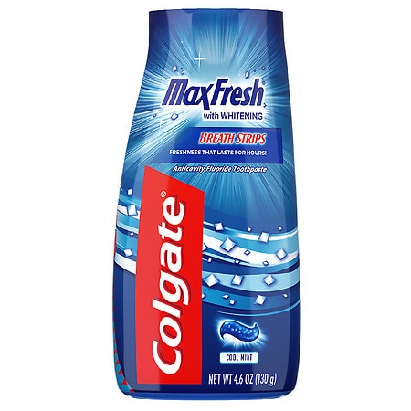 Image of Colgate MaxFresh Fluoride Toothpaste Cool Mint - 4.6 oz.