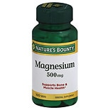 Nature's Bounty Magnesium 500 mg Dietary Supplement Tablets