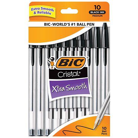 BIC Cristal, Ink Pen, Black - 10 ea