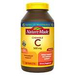 Nature Made Vitamin C 500 mg Dietary Supplement Chewable Tablets