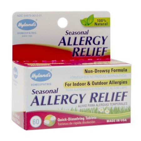 Hyland's Seasonal Allergy Relief Quick-Dissolving Tablets