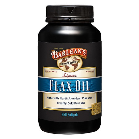 Barlean's Organic Oils Highest Lignan Content Cold Pressed Flax Oil, Capsules