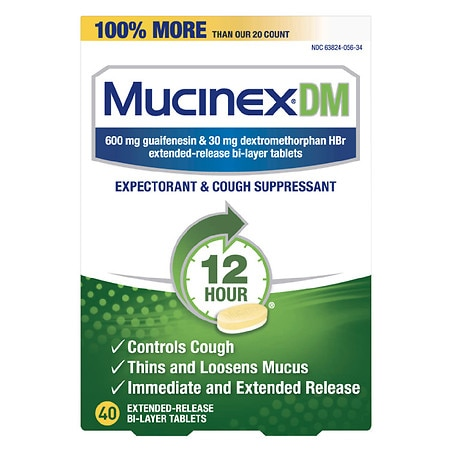 MucinexDM Cough & Chest Congestion Tablets - 40 ea