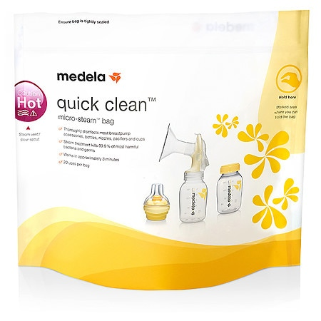 Medela Quick Clean Micro-Steam Bags - 5 ea